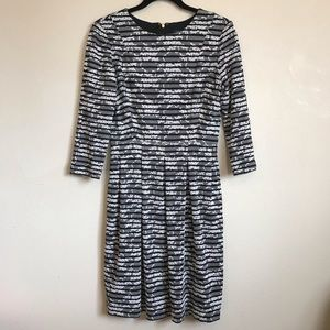 EUC Tommy Hilfiger Floral & Striped B & W Dress 6
